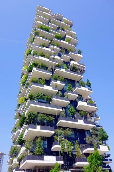 Vertikaler Wald Internationaler Hochhauspreis 2014 Hochhaus Futuristische Architektur Architektur