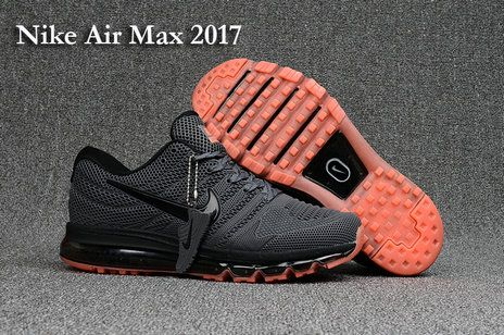 detailed look a534b 764a7 ... 2018 Factory Authentic Nike Air Max 2017 5 Kup black orange 898013 906  Mens Running Shoes ...