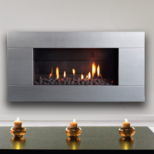 Escea Indoor Gas Stainless Steel Fireplace Ferro Front