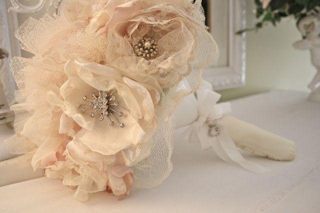 Fabric Flower Bridal Bouquet Fabric Flower Bouquet Fabric