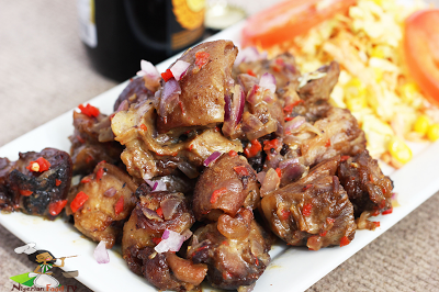Nigerian Asun Recipe Spicy Smoked Peppered Goat Meat