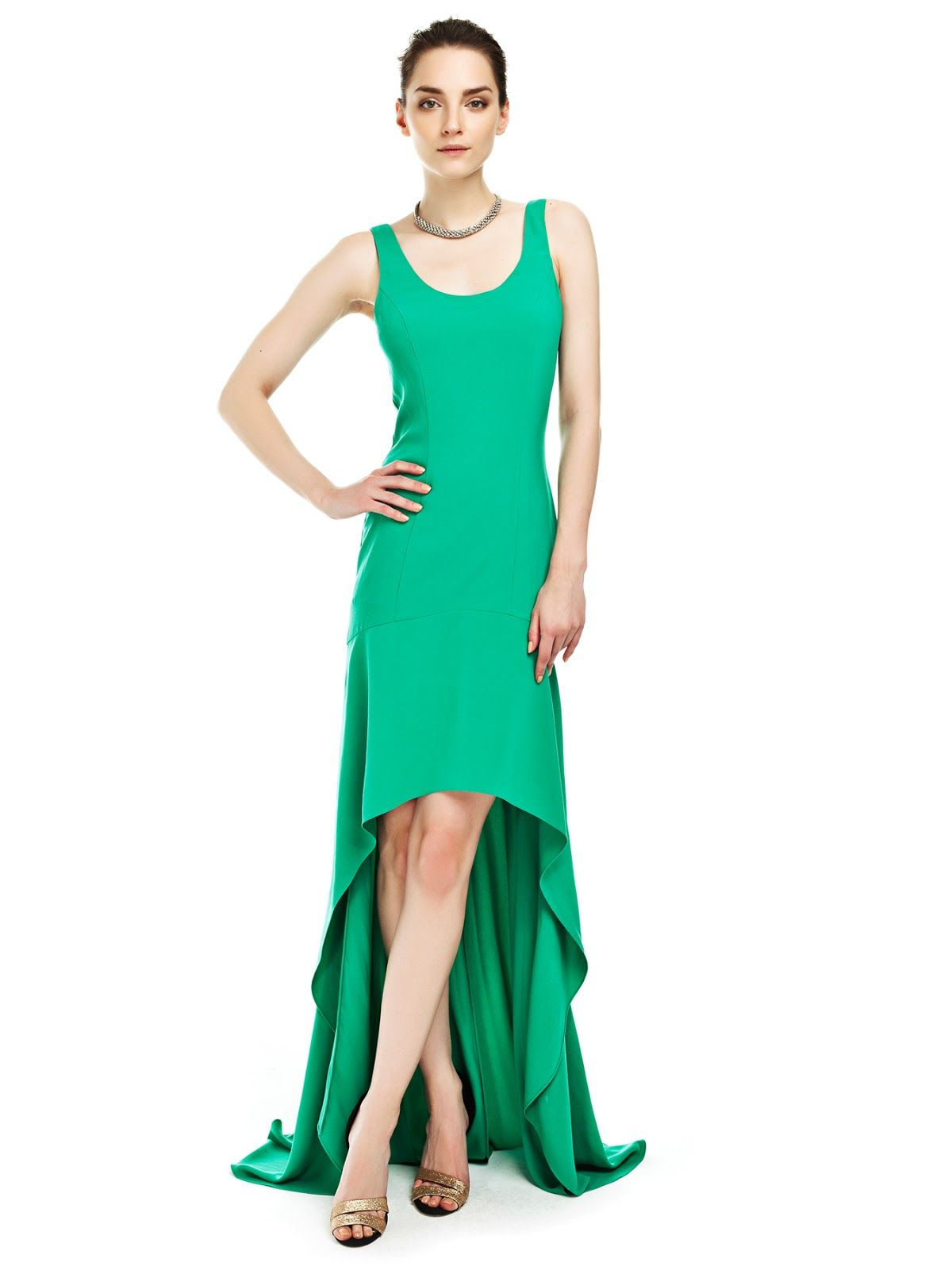 Fotos 2013 arkas uzun elbise abiye modelleri picture - Ye Il N K Sa Arkas Uzun Bir Model