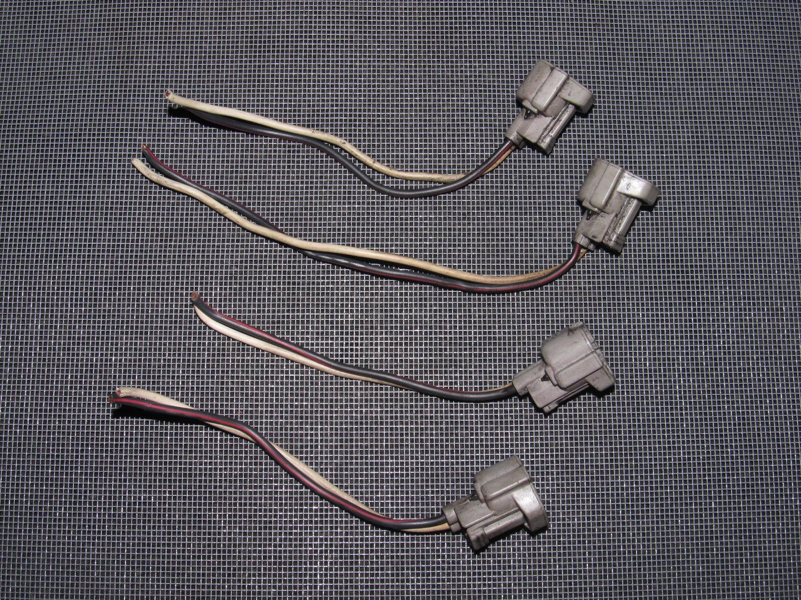 91 95 toyota mr2 oem fuel injector wiring harness 4 pieces 91 95 toyota mr2 oem fuel injector wiring harness 4 pieces