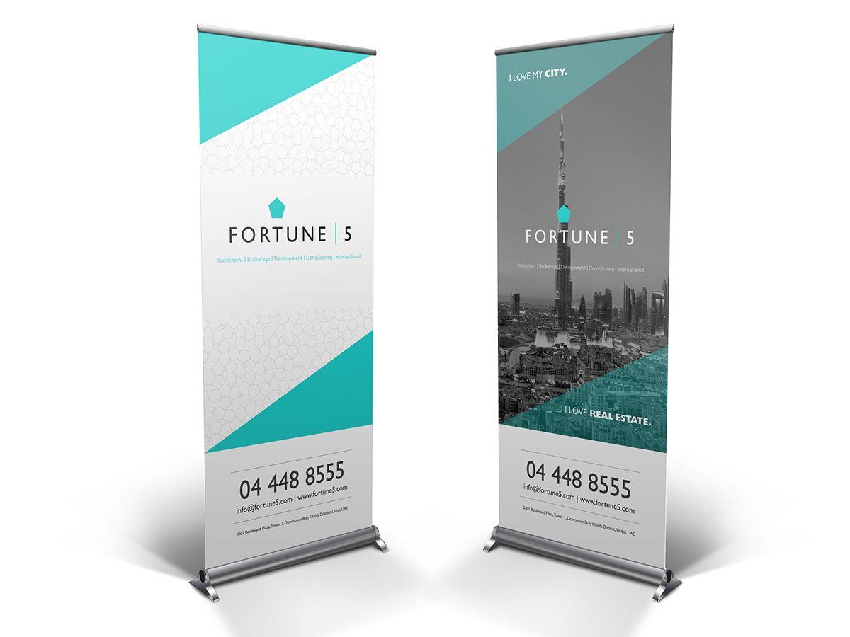 Fortune 5 Roll Up Banner On Behance 1613053 양지희: 더러워진 홍보 배너는 가게