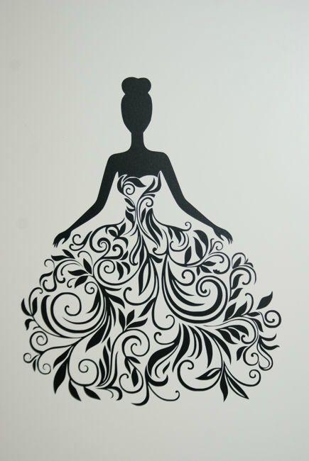 Motif silhouette gratuit juin 2014 robe en arabesques poussi re d 39 aiguilles dessin - Dessin art plastique a imprimer ...