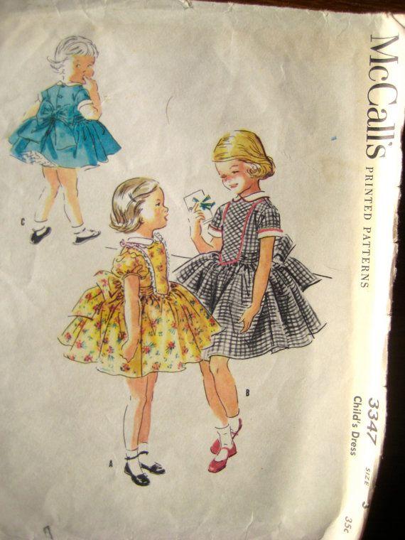 1955 Vintage Flower Girl Dresses