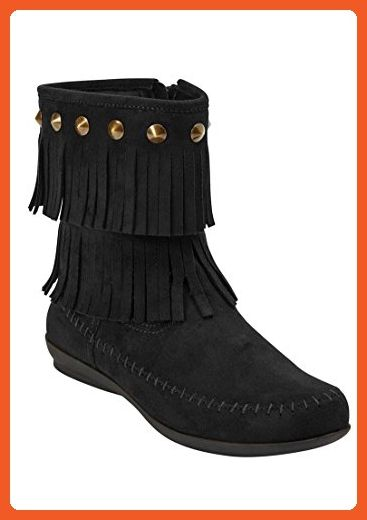 newest selection hot-selling latest the best Comfortview Women's Wide Cella Bootie Black,9 1/2 Ww - Boots ...