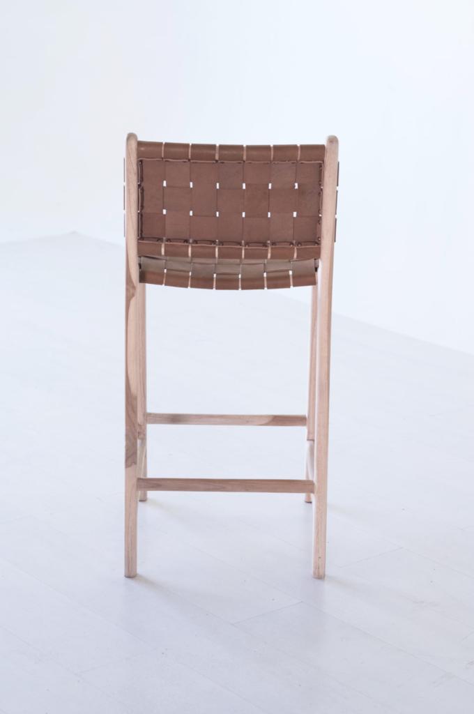 Phenomenal Woven Leather Strap Counter Bar Stool Saddle Kitchen In Creativecarmelina Interior Chair Design Creativecarmelinacom