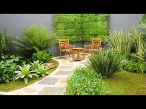 dekorasi taman rumah penuh warna hijau | taman modern