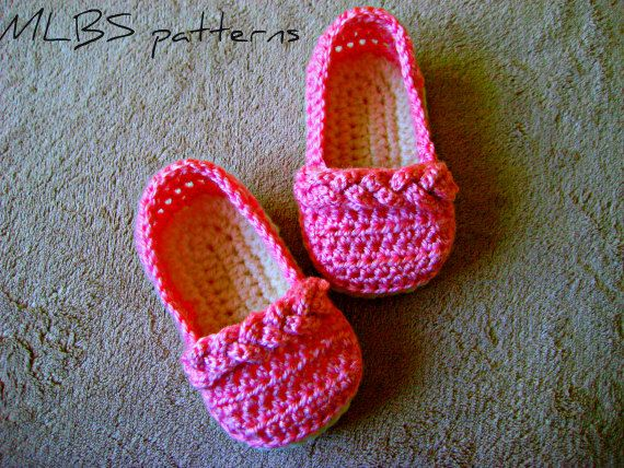 Crochet pattern baby booties crochet pattern baby shoes 0-18 months ...