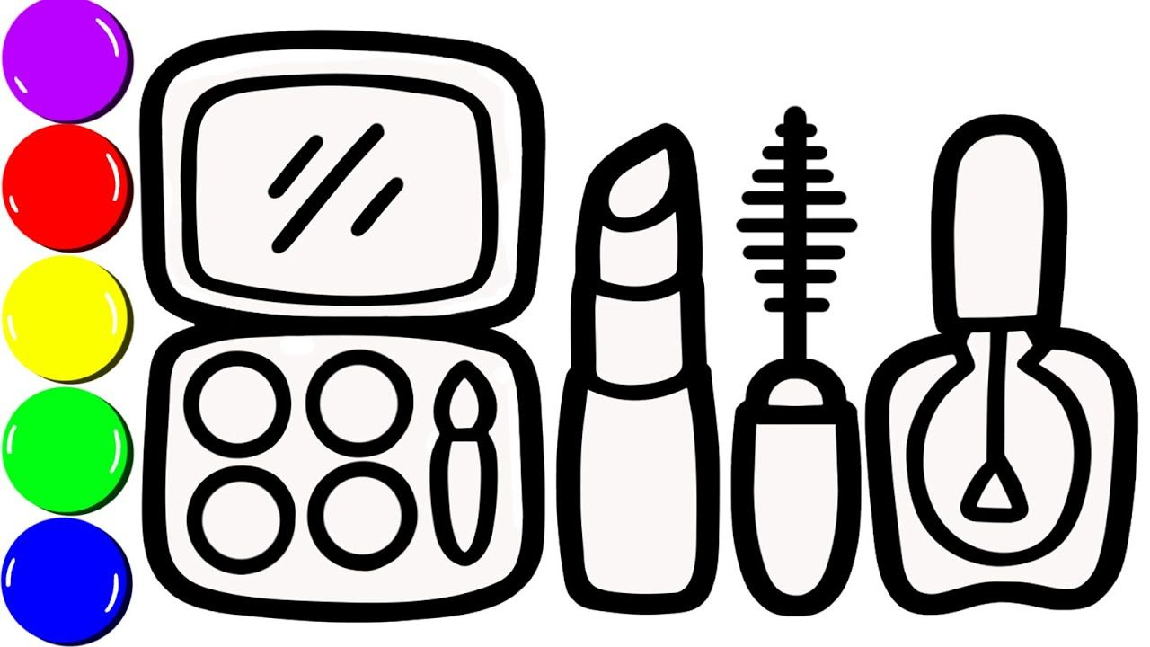 How To Draw A Makeup Tools For Girls Makeup Coloring Page For