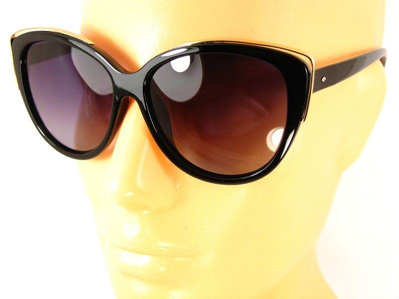 Damskie okulary przeciwsłoneczne Czarne Kocie Oczy