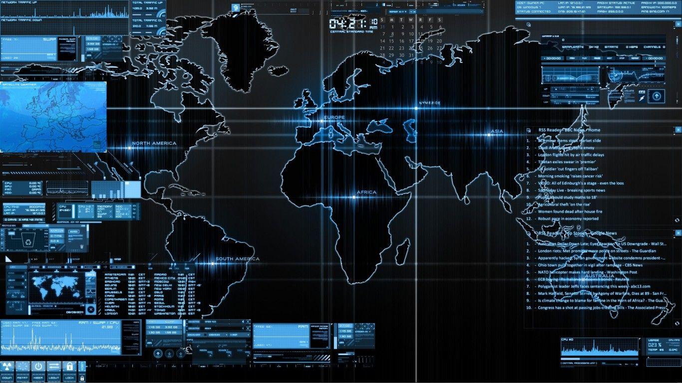 rainmeter data graph maps data stream World map