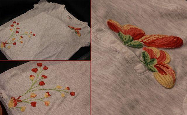 TallerdeLuna: Camiseta con flores III