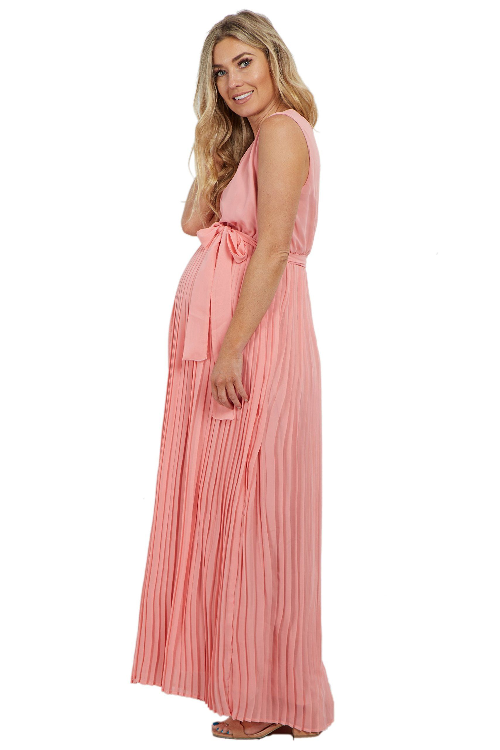 72f65f4ed659 Maternity Outfits - comfortable maternity maxi dress : PinkBlush Maternity  Pink Pleated Chiffon Maternity Dress XL *** More details can be discovered  at the ...
