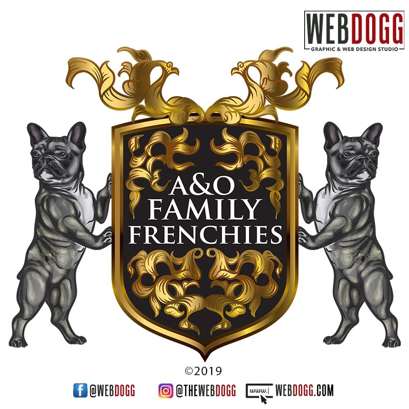 A O Family Frenchies Is A French Bulldog Breeder In Texas Logo