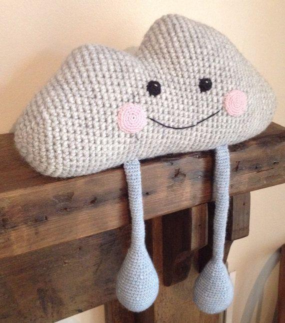 Chester the crochet rain cloud by knottylittlekittys on Etsy