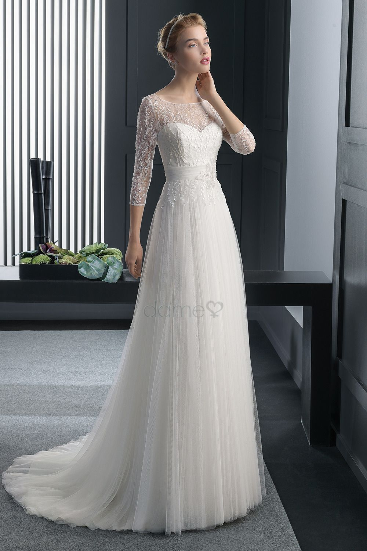 Rückenfrei Kaiserlich Empire Taille Empire Brautkleid | Hochzeiten ...