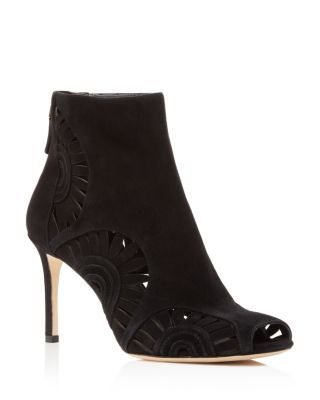1bd9a3bcc TORY BURCH Leyla Floral Cutout Peep Toe Booties.  toryburch  shoes  boots