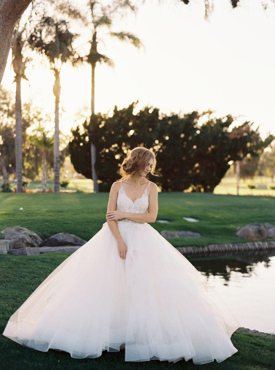 Traditional bluehued wedding in california vestidos de novia de