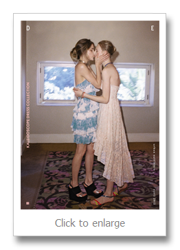 Lesbian moms kissing