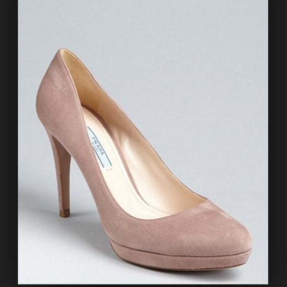 Prada Suede Pumps! Nude, Prada Suede Pumps. Size 10- fits a true size 10. Worn them twice, but they're too big for me. I will add additional pictures for serious buyers! Prada Shoes Heels