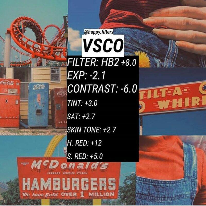 Red & Orange VSCO filter