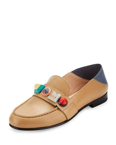 d106e199798f Rainbow Stud Leather Loafer