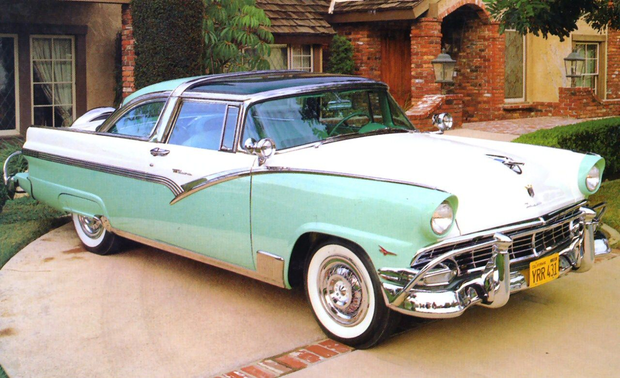 1956 Ford Crown Victoria With Transparent Roof Ford Fairlane Ford Classic Cars Fairlane