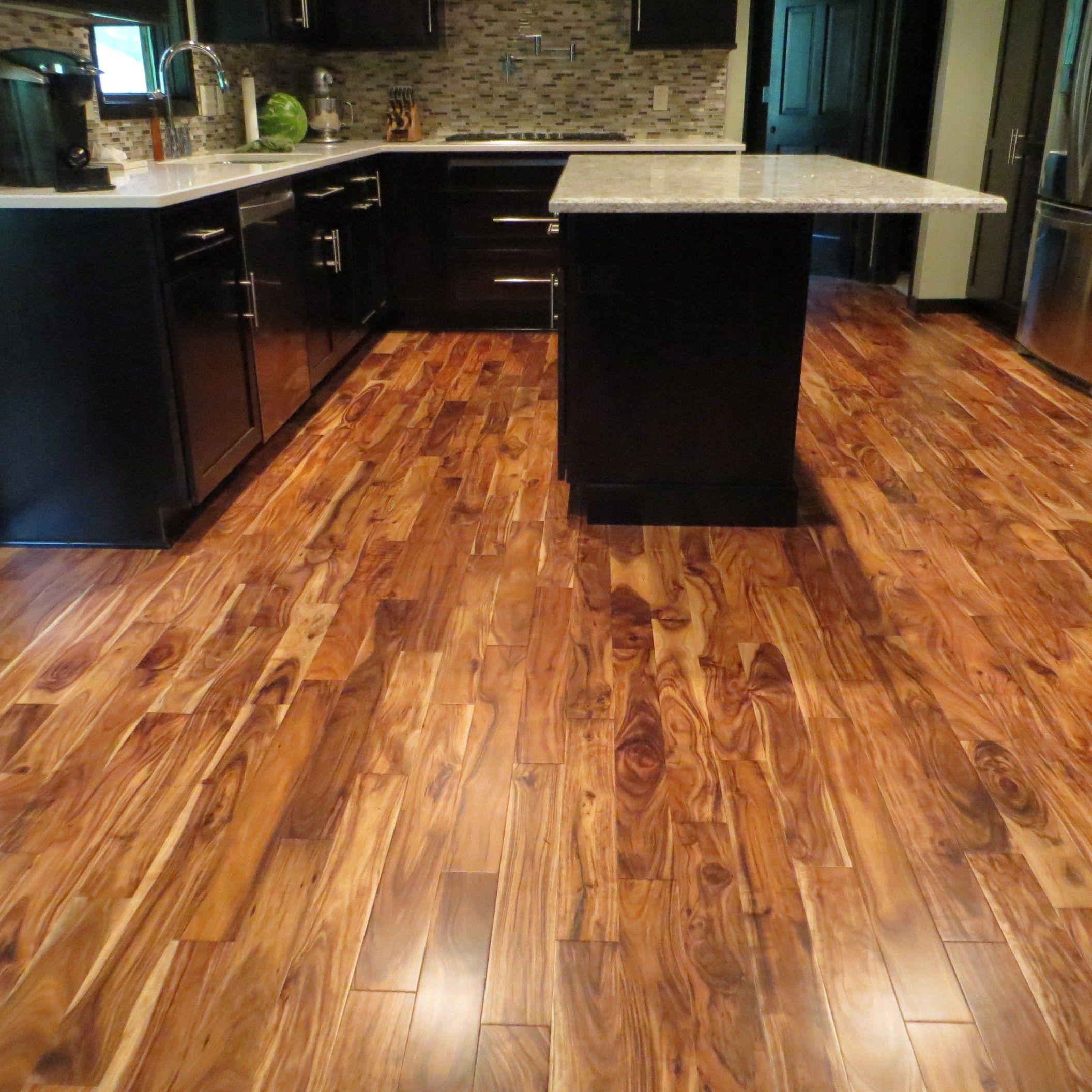 Acacia Natural Plank Hardwood Flooring Kitchen floor Pinterest