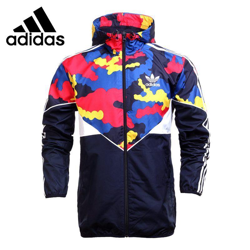 b30caf0de87 Оригинал Новое Прибытие 2016 Adidas Originals es вб красочные camo мужская  куртка С Капюшоном Спортивной бесплатная доставка
