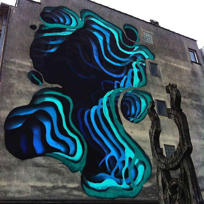 Street Artist Spray-Paints Boring Buildings With Optical Illusions That Look Like 3D Portals
