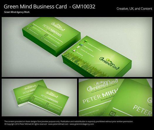 green mind business card egypt design marketing creative