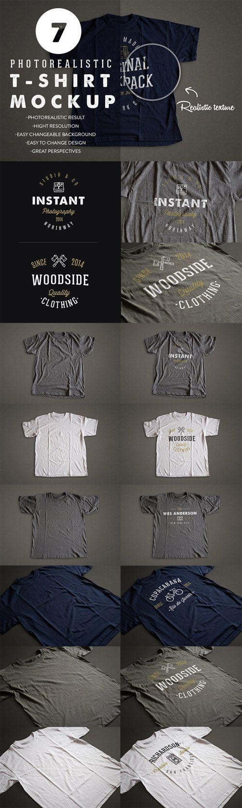 CreativeMarket – Photorealistic T-Shirt Mockup 2 68645 » NULLED PHP ...