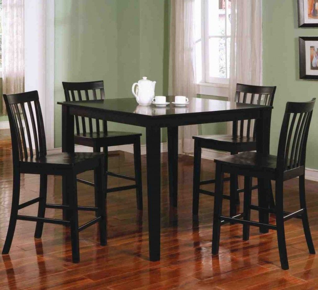 Black Counter Height Dining Table And Chairs Dining Room