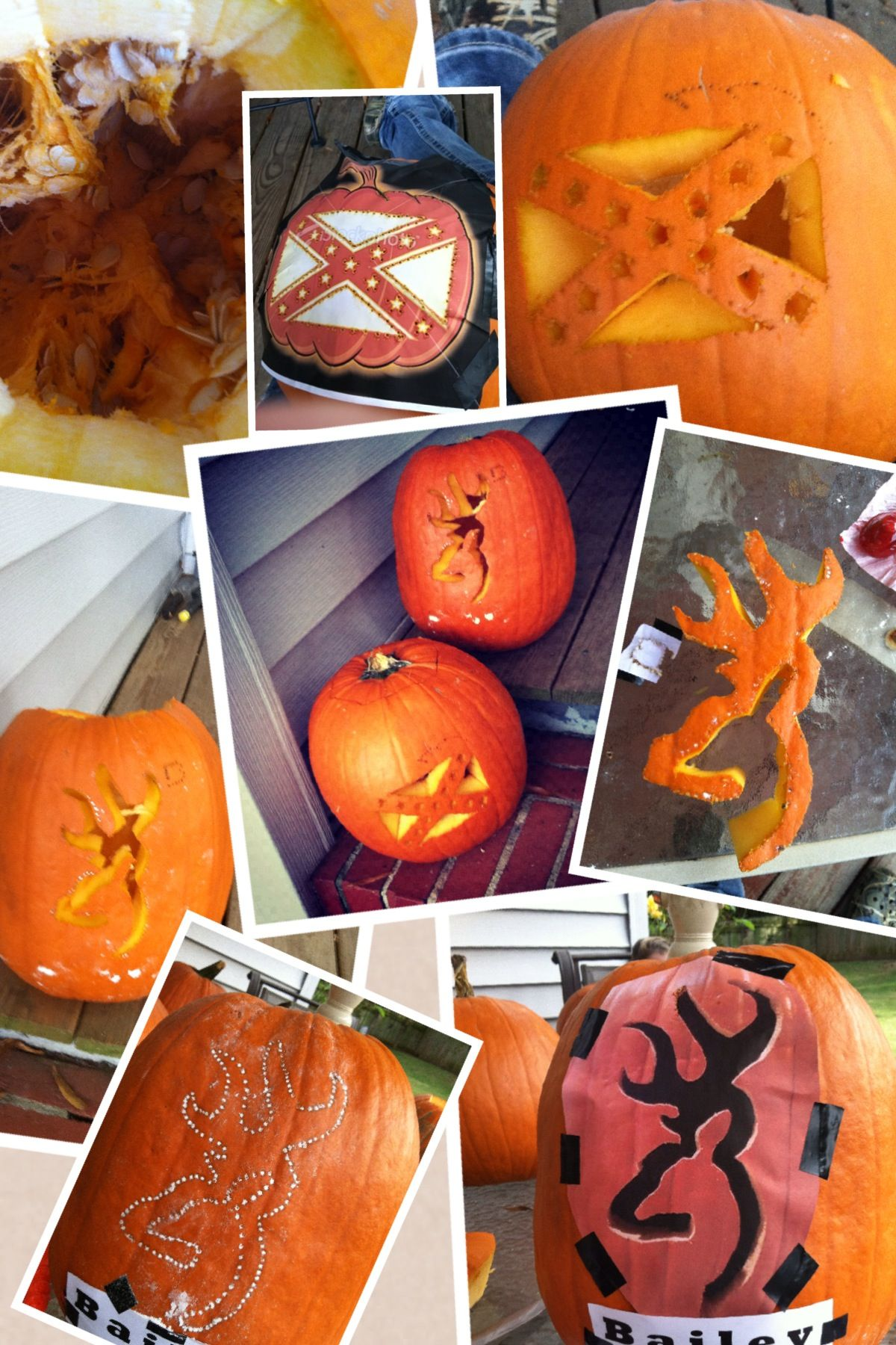 Browning and rebel flag pumpkins | It's a southern thing ...