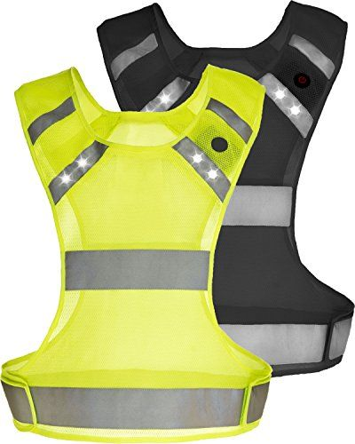 3 Modes LED Reflective Vest Safety Gear for Runners Night Running Outdoor