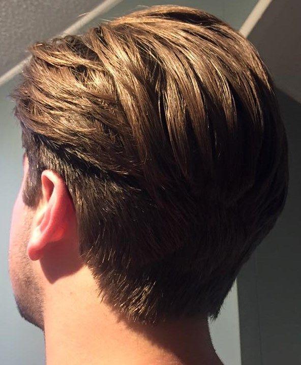 21 Largo medio cortes de cabello hombre