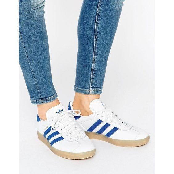 gazelle adidas mujer azul claro