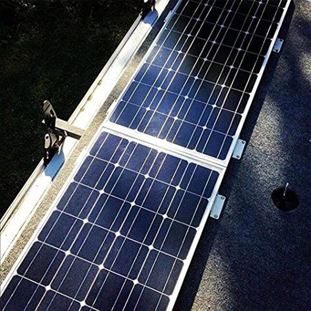 Flexible Solar Panels Installed On A Motorhome Rv Roof Rv Solar Panels Best Solar Panels Flexible Solar Panels