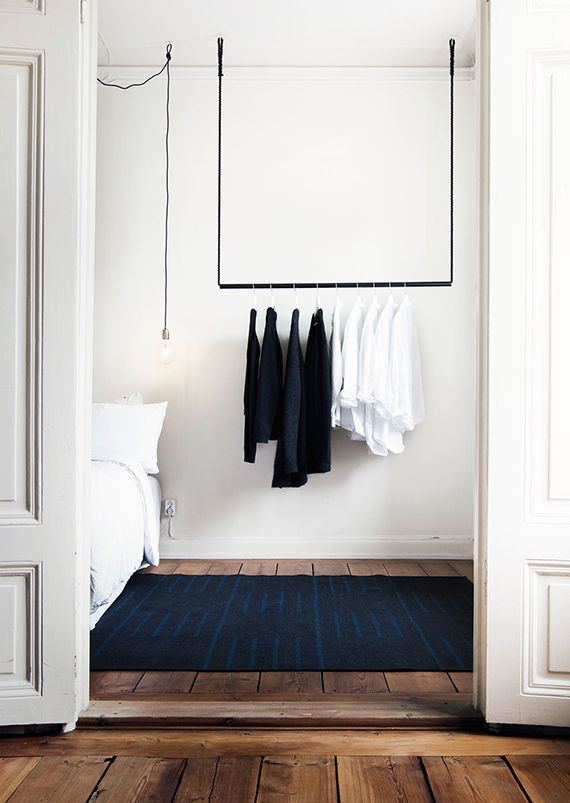 Bedroom clothes rack inspiration is part of Modern Clothes Rack - Clothes rack in the bedroom, open wardrobe inspiration, clothes storage
