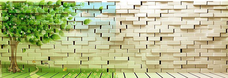 Les frais de fond blanc de briques de dessins animés, Blanc, Un Mur De Briques, Dessin, l'image de fond
