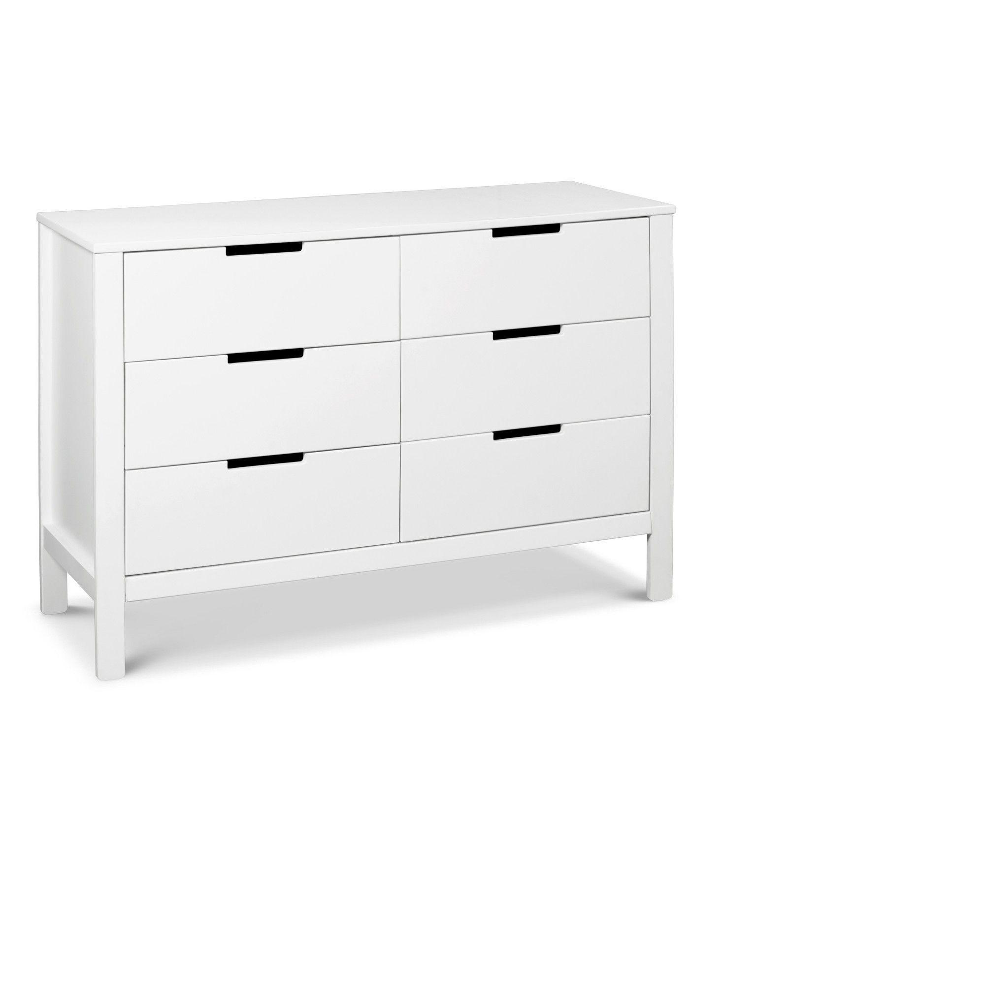 Carter S By Davinci Colby 6 Drawer Dresser White Dresser Drawers