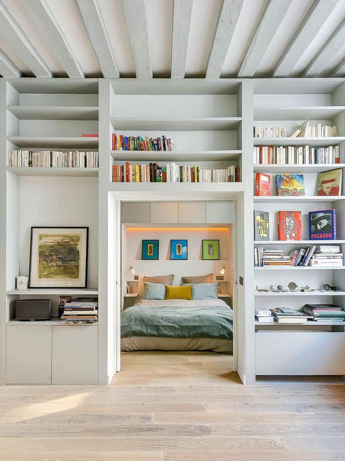 Boekenkast op maat als scheidingswand | woonkamer | Pinterest ...