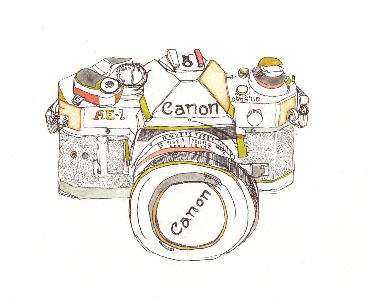 It's just an image of Gargantuan Canon Camera Drawing