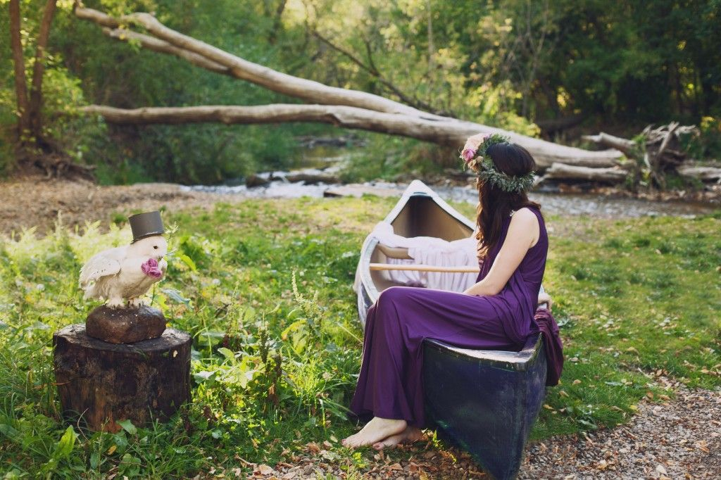 For this photo shoot we wanted to put something together that was woodsy, classy, and had a touch of fantasy. The idea for this shoot was originally based on John William Waterhouse's painting, The Lady of Shalott, and then the ideas grew from there.
