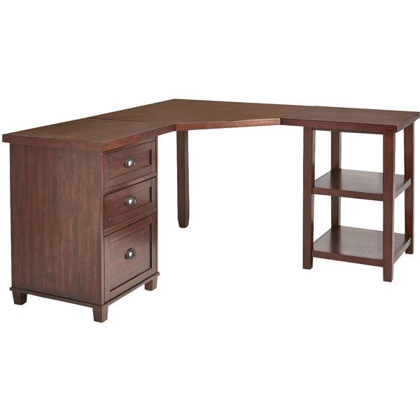 Pier 1 Imports Torrance Corner Desk Top ($300) ❤ Liked On Polyvore  Featuring Home
