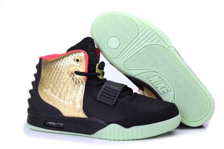Nike Air Yeezy 2 Men\u0027s Shoe - Black/Gold