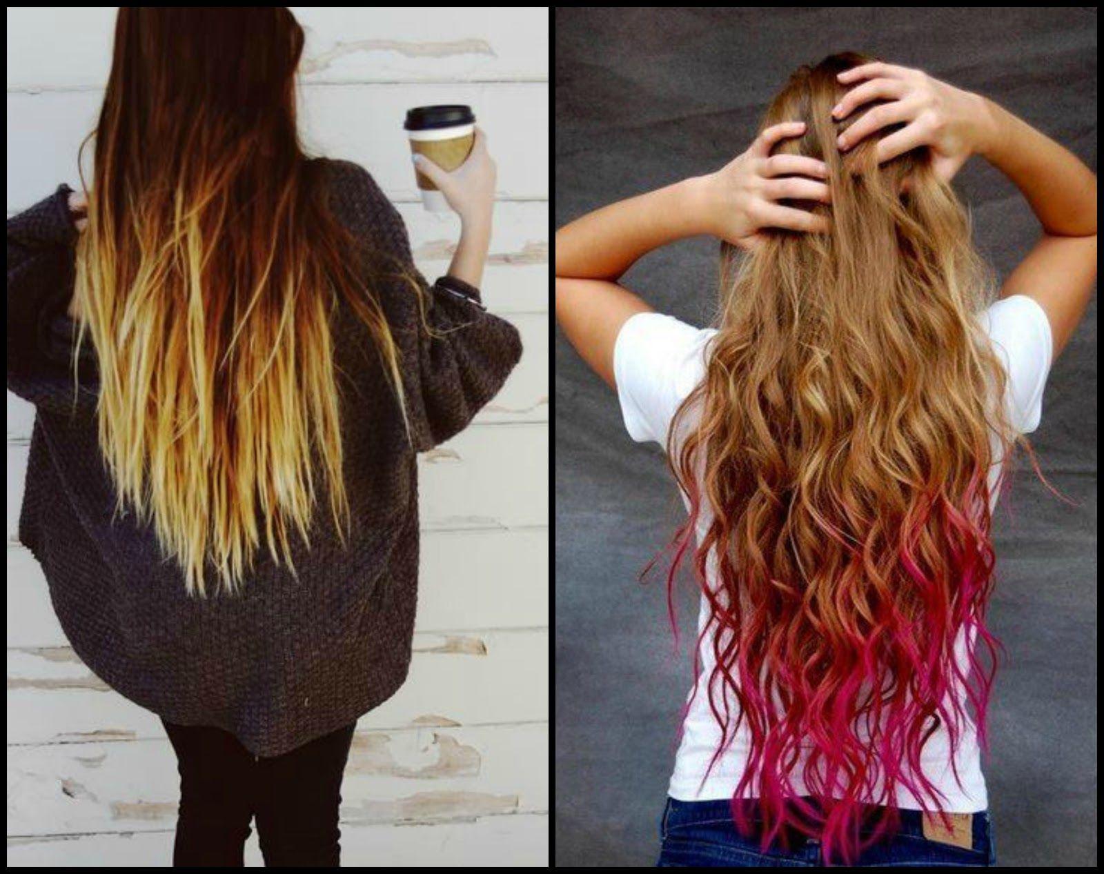 mechas californianas de color azul en cabello oscuro ...