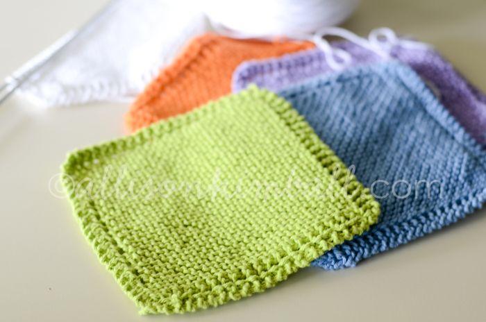 knitted washcloths (free pattern) | Tejido y Puntos